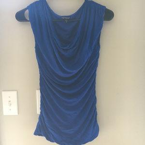 Express Blue Slouch Neck Shirt